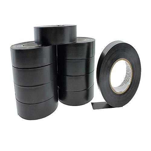Wetter-vinyl (WXH 10 STÜCKE Schwarzes PVC-Isolierband Sichere Kabelbinder, beständiger Klebstoff, 25 m * 17 mm, -18 bis 105 Grad für Elektriker/Kfz-Anwendungen,S)
