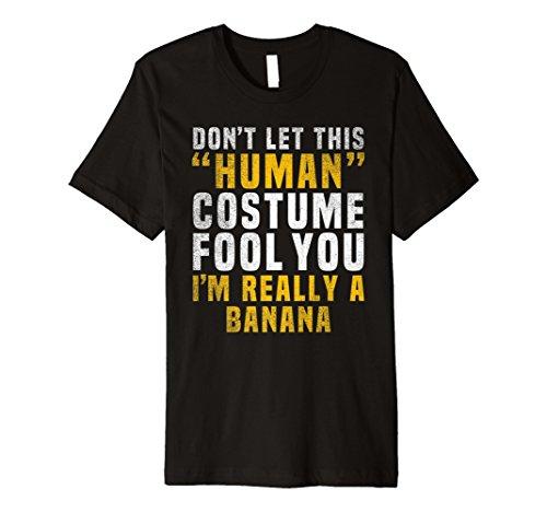 Ich bin wirklich eine Banane Kostüm einfach Funny Halloween Tshirt