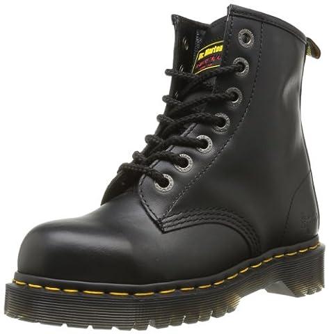Dr. Marten's Unisex Black Leather Safety 7B10 Boots 9 Uk Regular