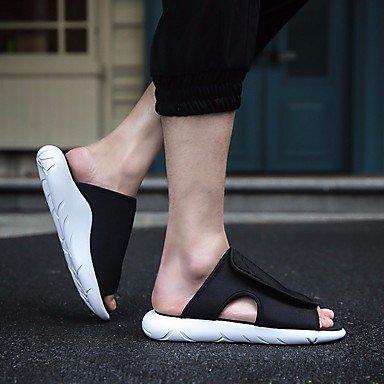 Slippers & amp da uomo;Sandali Comfort PU Primavera Casual Blu Rosso Nero Bianco sandali US10 / EU43 / UK9 / CN44
