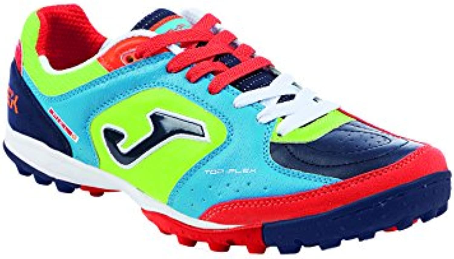 JOMA CALCETTO TOP FLEX 616 FLUOR-NAVY-RED-BLUE TURF 43.5