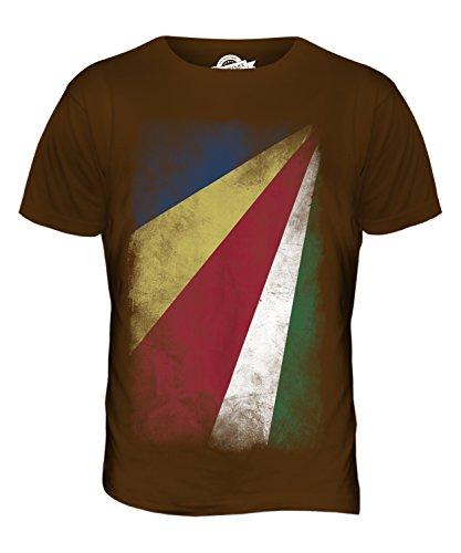CandyMix Seychellen Verblichen Flagge Herren T Shirt Braun