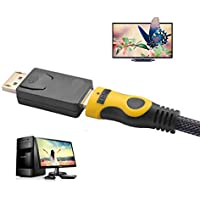 ToneStyle-U Puerto de Pantalla portátil DisplayPort DP Macho a HDMI Adaptador de Cable Femenino Adaptador de Audio y Video para HDTV PC