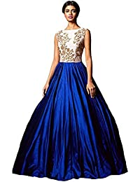 Florence Women's Silk Party Wear Designer Semi-stitched Gown