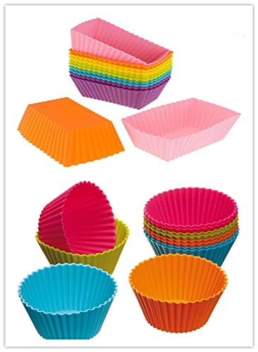 YA-Uzeun Kitchen Craft Colourworks Silikon-Backförmchen, 12 Stück - Buchstaben 6-zoll-craft