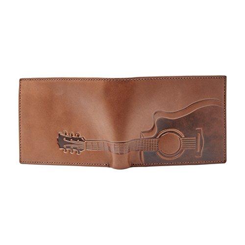 Fossil Geldbörse Nash RFID Large Pocket Bifold Braun Gitarre Motiv Herren Portemonnaie Leder Geldbeutel Brieftasche - 4