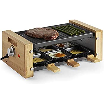 Mini Cheese Melting Pan with Foldable by Janolia Non-Stick Raclette Grill Set