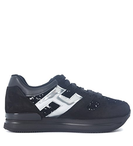 Hogan Sneaker H222 in Suede Nero con micropaillettes Nero