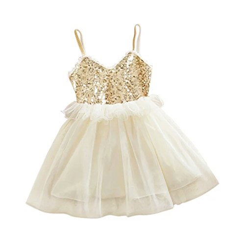 189ce24ce0ac3 AP Boutique Baby Girl Frocks Birthday Party Wear Dresses Girls Fancy  Designer Golden White Dress