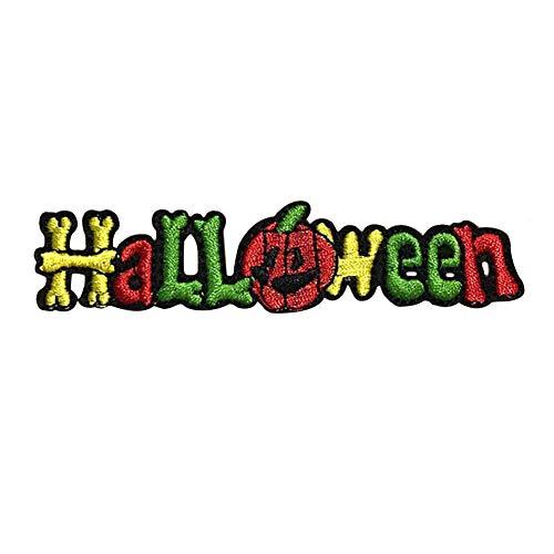 Dosige 10 Stück Halloween Aufnäher Patches DIY Kleidung Aufkleber Stoff Patch Kleider für T-Shirt Jeans Hut Dekor 2.5 * 10cm Stil-C