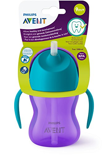 Philips Avent Straw Cup, 7oz (Purple)