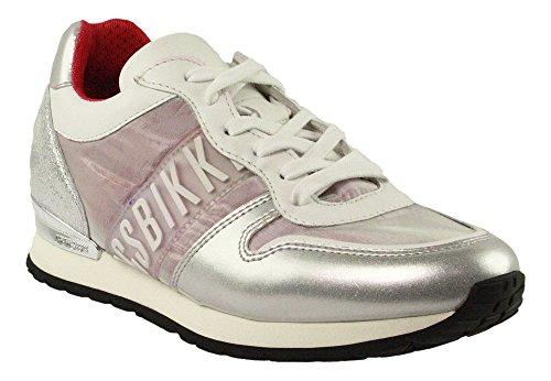 BIKKEMBERGS Damen Kate 853 Niedrige Sneaker Argento (Silver/pink)