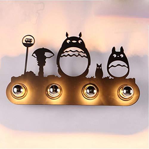 Modernes Loft Industrie SchlafziMMer Treppe Kopf Eisen Retro KinderziMMer Korridor Tier Schatten Wandlampe Drache Katze 60 X 33 CM E-Warmes Licht -
