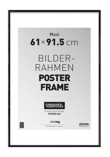 REINDERS Bilderrahmen für Maxi Poster 61x91,5cm - schwarz Kunststoff