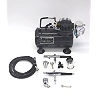 SwitZer AS18 Airbrush Kit With Compressor and 2 x Double Action Airbrushes and Hose