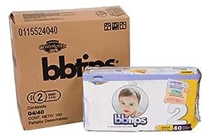 COUCHE BBTIPS T2 : CARTON DE 160 COUCHES