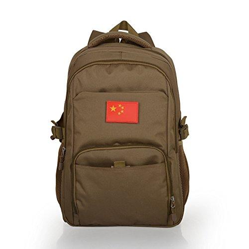 Gli studenti di mimetizzazione pack outdoor alpinismo Borse viaggio borse tracolla zaino 48*32*14cm, Lupo Brown Lupo Brown