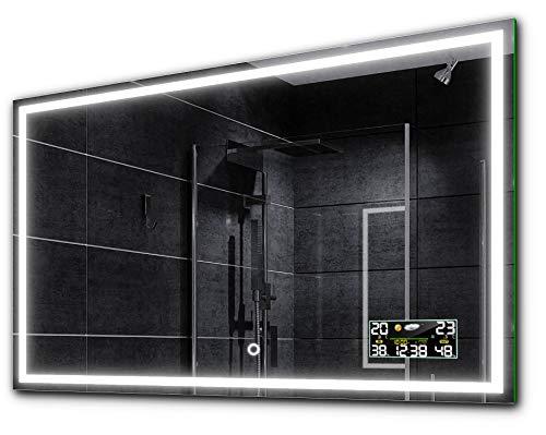 Design Badspiegel | 120x80cm | Atlanta | Wählen Sie Zubehör | Make-up Spiegel zu Wähle