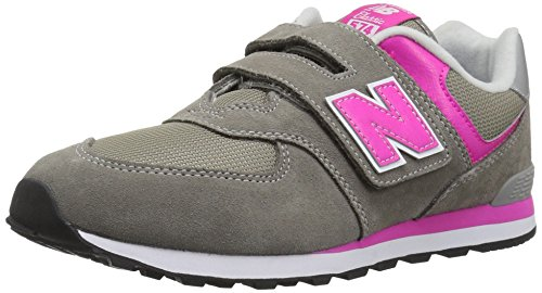New Balance Iv574v1, Sneaker Unisex – bambini Grigio+Rosa