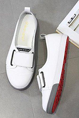 Modalità Piattaforma Donna Tallone Scratch Bianche Aisun Della Bassa Sportive Scarpe Piano Del pqg7wExw