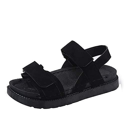 Subfamily sandali da spiaggia casual estivi da donna sandalo tondo a punta piatta calzature singole con fibbia sandali da spiaggia scarpe romane scarpe sportive