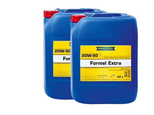 40 (2x20) Liter Bag in Box RAVENOL Formel Extra 20W-50 Motoröl Made in Germany