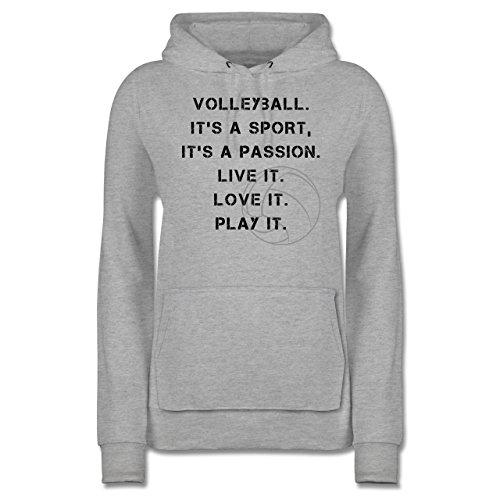 Shirtracer Volleyball - Volleyball Statement - S - Grau meliert - JH001F - Damen Hoodie