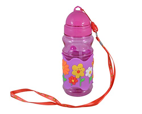 INSTABUYZ Premium Water Bottle For Kids | School Water Bottles For Children Boys Girls Baby | High Quality | Specially Designed With Attractive Prints Perfect Gifts Online (Pink Sipper Bottle)
