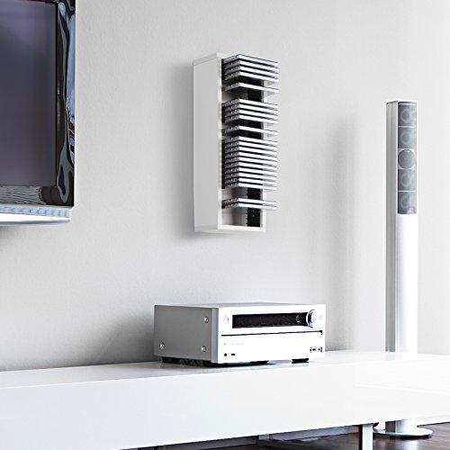 Jago CD-Regal CD-Wandregal CD Ständer mit Platz für 30 CDs in drei verschiedenen Farben
