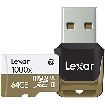 Lexar LSDMI64GCBEU1000R - Tarjeta de memoria microSD de 64 GB (con hasta 150 MB/s, Clase UHS-I y UHS-II,U3, velocidad de 1000x)
