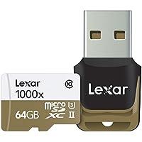 Lexar Professional 64GB Class 10 High-Performance 1000x Micro SDXC UHS-II Memory Card Speicherkarte mit USB-Kartenleser