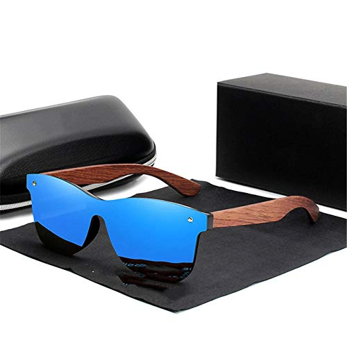 ANSKT Holz Sonnenbrille Herren polarisierte Mode Sonnenbrillen Holz New-Blue_bubinga_Wood
