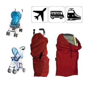 ninitosninitos Kinderwagen Gate Check Bag, Reisetasche mit Trageriemen, Buggy Transporttasche für Flugzeug (rot)
