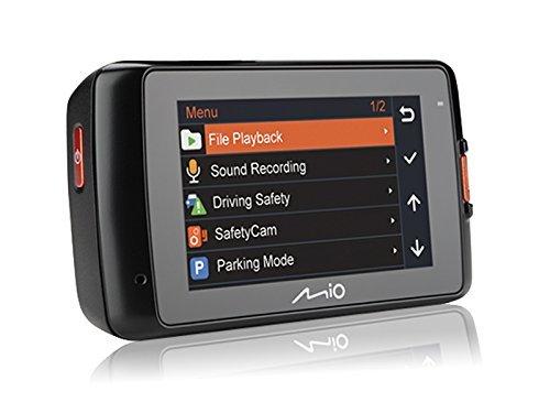 Mio MiVue 618 Super HD Dashcam Videokamera für Auto mit Radar-Warnung, GPS-Funktion, 140 Grad Weitwinkelkamera, 3-Achsen-G-Sensor, Parkmodus und Fotomodus