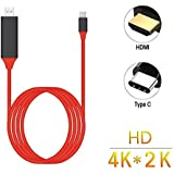 High Quality Type C To HDMI Cable HDTV Video Cable For Samsung S8 And MacBook ; Audio Video Adapter MHL Cables Resolution Up To 4K; Type C USB 3.1 To HDMI 4K High Speed Adapter Cables; Type C To HDMI Cable Converted Analog Signal To Output; 4K Type C HDMI