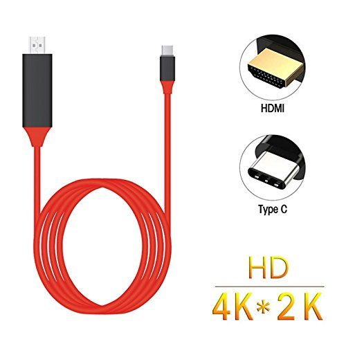 Shopline Type C to HDMI HDTV 1080P Audio Video MHL Cable for Universal Micro USB Type C Adapter with Type C to HDMI, USB C to HDTV Cable Compatible with All Type C Enabled Smartphones