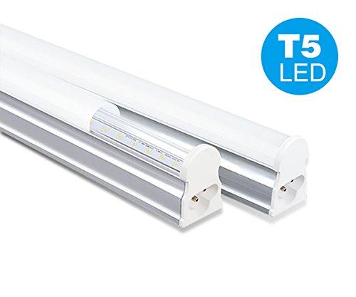 NRG Clever® T5I60WW, Blanco Cálido 3000K integrados T5 60cm, Pack de 2 unidades T5 tubo LED 10W Luz 910lm para techos, armarios y cocinas, color del tubo de ahorro de energía del LED: 3000K blanco cálido