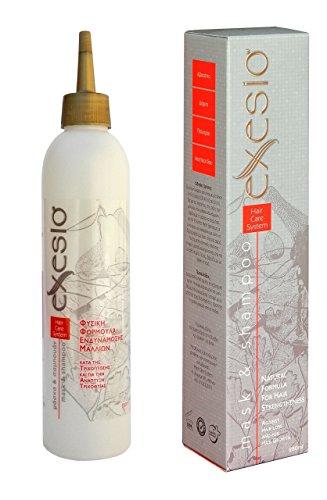 Exesio Shampoo / Haartonikum kombiniert für Haarausfall, Haarwuchs-Shampoo. Hilft, Haarausfall zu stoppen, Anti-Haarausfall-Shampoo. Haarausfall Behandlung für Männer und Frauen 280ml