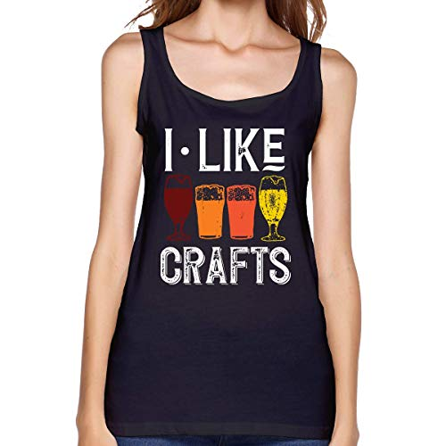 Henrnt Canotte Donna,Tank Top da Donna, Canottiere Estive, Ladies I Like Crafts Beer Brewing Sleeveless Tank Top Sport Gym Vests Running T Shirt T