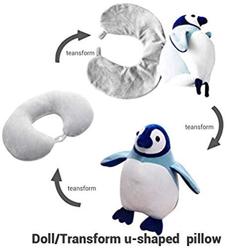 Heylas Kinder Nackenkissen U-förmige Reise Plüsch Plüsch Spielzeug für Kinder, U-förmiges Nackenkissen,Comfortable Entlastet die Halswirbel Bequem für Schlaf im Flugzeug Auto oder Zug.