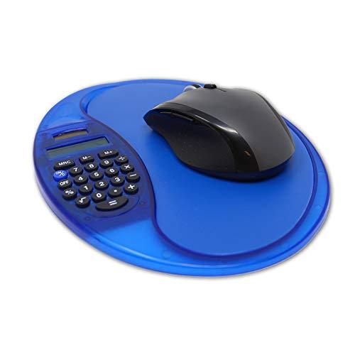 Mauspad mit digitalem Taschenrechner, Dual-Power-Rechner, Mauspad für Computer, für Schule, Büro, Mathematik, Blau