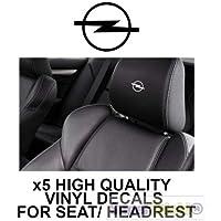 SUPERSTICKI 5X Mazda Logo Schriftzug Kopfst/ützen Aufkleber f/ür Kopfst/ütze Sitze Handschufach Lack Tuningsticker Decal Decals geplottet Hochleistungsfolie oder Scheibe Headrest 12cm