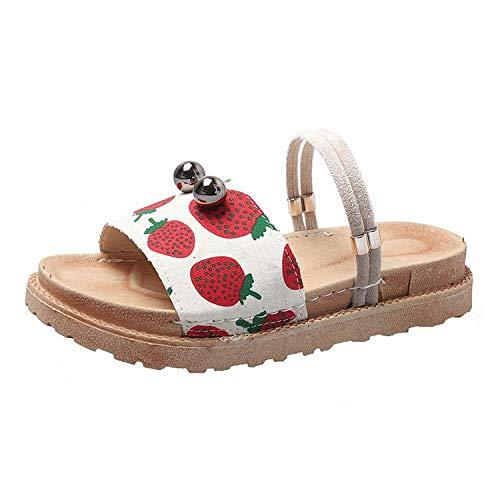 Ameginer Plateauschuhe Sandalen Sommermode tragen Damen tragen Bequeme Word @ White_38