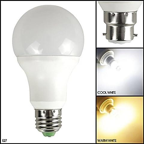 MSC Ampoule à LED 7W 650lm B22/E27 Capteur jour/nuit automatique Marche/arrêt automatique Économie d'énergie Équivalent ampoule à incandescence 7–70W 3000K Blanc chaud 7.00 wattsW, 220.00 voltsV