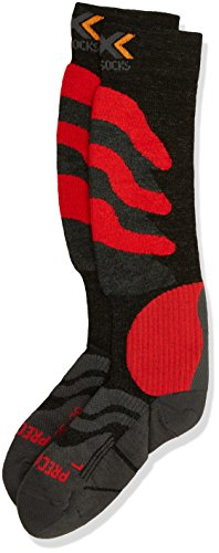 X-Socks Funktionssocken Ski Precision, Anthracite/Red, 39/41, X020291