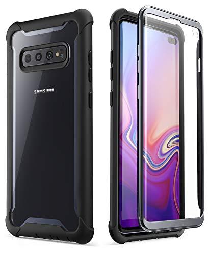 i-Blason Cover Samsung Galaxy S10 Plus, Custodia Rigida e Protezione per Schermo Integrata [Serie Ares] Rugged Case per Samsung Galaxy S10 Plus 2019, Non Supporta sblocco Impronte digitali, Nero