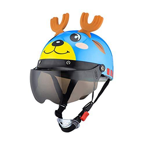 LGFV Kinder Helme Sommerhalblinsenkopfumfang 35~55Cm Geeignet Für Kinder Jugend Außeneinsatz,Blau