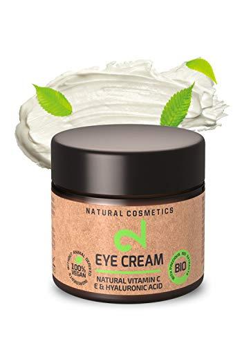 DUAL Eye Cream|Crema Contorno Occhi 100% Naturale|Vitamina C Naturale e Acido Ialuronico: Microalghe e Broccoli|Idratazione Cutanea|Crema Anti-età Organica|Certificato|25 ml|Fatto in Germania
