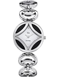 Go Women's 694324 Round White Dial Stainless Steel Wristwatch