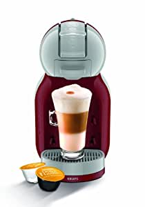 Nescafé Dolce Gusto KP120540 Mini Me Coffee Machine, 1500 W, Red/Grey